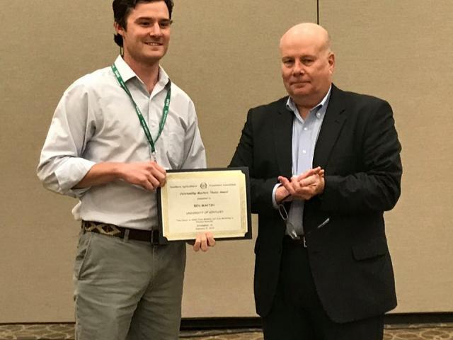 Ben Martin receives SAEA 2019 award