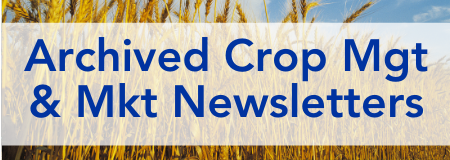 Archived Crop Management and Marketing Newsletters