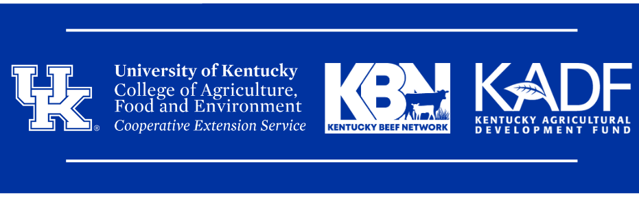 Logos from UK Cooperative Extension Service, Kentucky Beef Network, and Kentucky Agricultural Development Fund