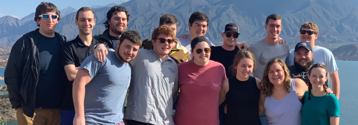2019 education abroad in Argentina group photo.